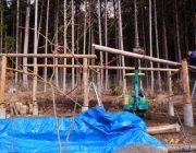 丸太で作る農機具小屋「ユンボハウス」建設の記録