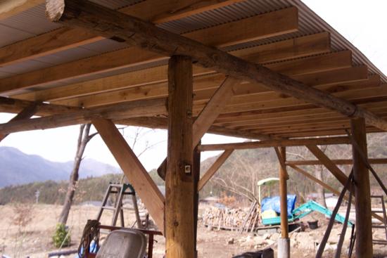 農機具小屋の補強