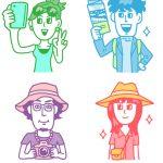 学生の旅のイラスト