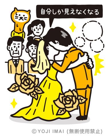 結婚式の長すぎるキス